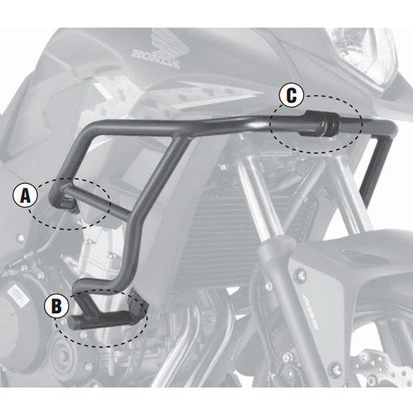 Defensas Motor Givi TN1121 para Honda CBX500 de 20