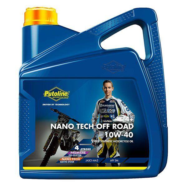Aceite Putoline Off-Road Nano Tech4+ 10W40 4L