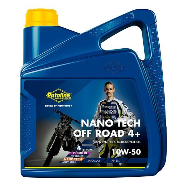 Aceite Putoline Off-Road Nano Tech4+ 10W50 4L