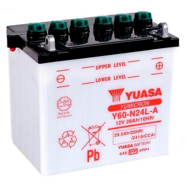 Bateria Yuasa Y60N24L-A2 con acido incluido