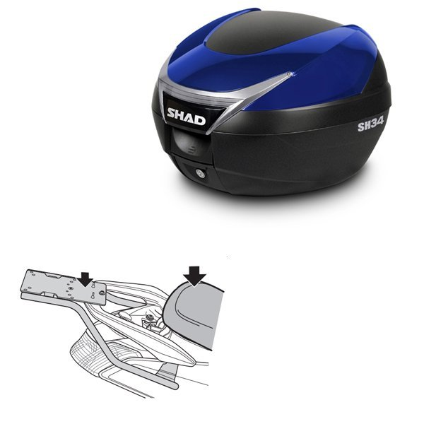 Baul Shad SH34 azul Yamaha Nmax 125