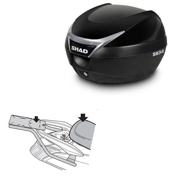 Baul Shad SH34 negro brillo Yamaha Nmax 125