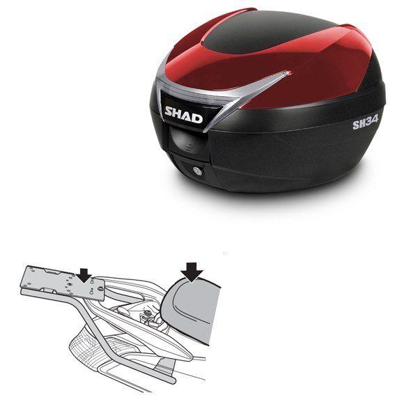 Baul Shad SH34 rojo Yamaha Nmax 125