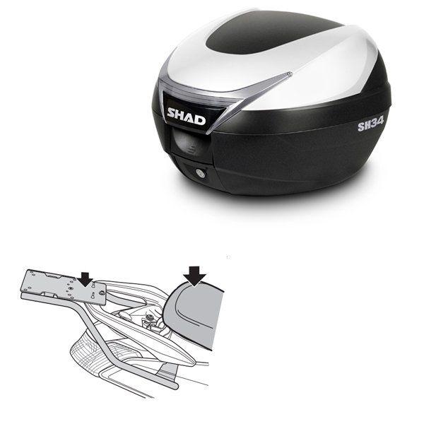 Baul Shad SH34 titanio Yamaha Nmax 125