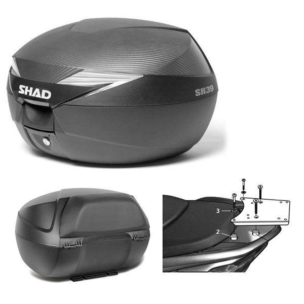 Baul Shad SH39 Honda Forza 300 con respaldo