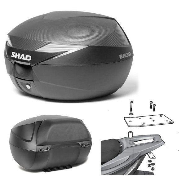 Baul Shad SH39 Kymco Agility con respaldo