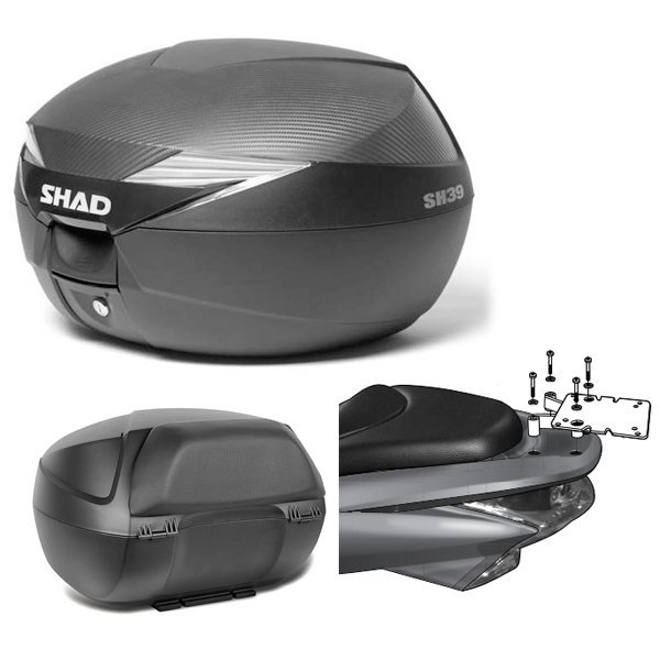 Baul Shad SH39 PCX 125 con respaldo