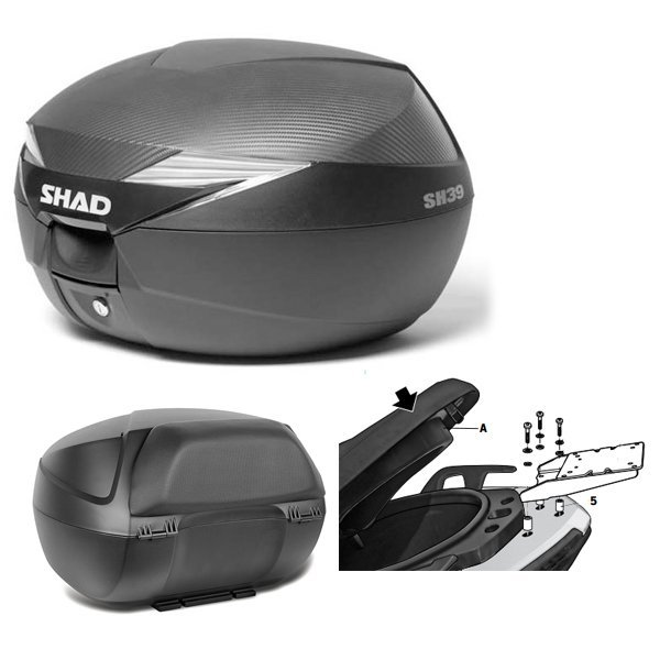 Baul Shad SH39 Yamaha Xmax 125 con respaldo