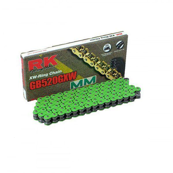 Cadena RK 520GXW Verde 120 Pasos