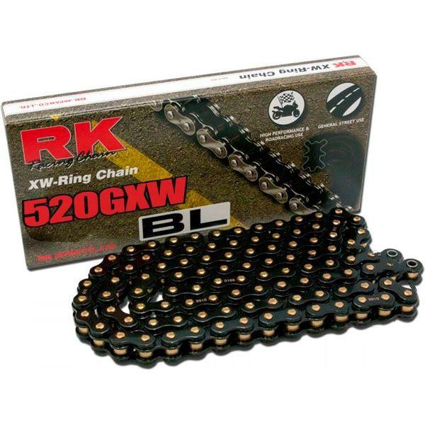 Cadena Rk 520GXW Black And Gold 120p