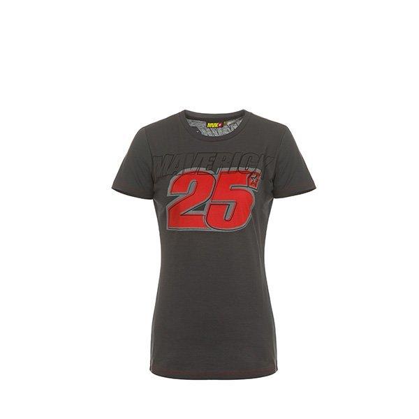 Camiseta Chica Maverick Viñales Gris Rojo2
