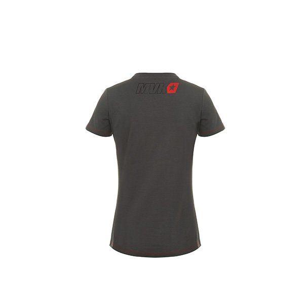Camiseta Chica Maverick Viñales Gris Rojo3