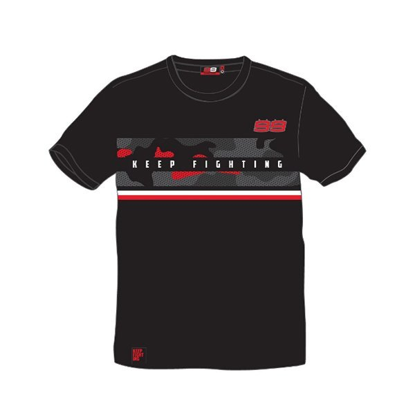 Camiseta Jorge Lorenzo Keep Fighting Negra