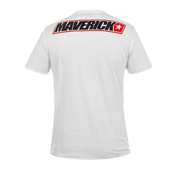 Camiseta Maverick Viñales Blanco Rojo3