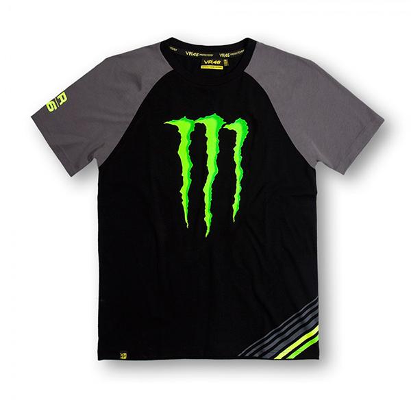 Camiseta Negra Manga Gris Monster