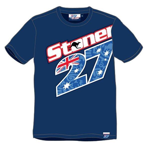 Camiseta Stoner 27 Azul.