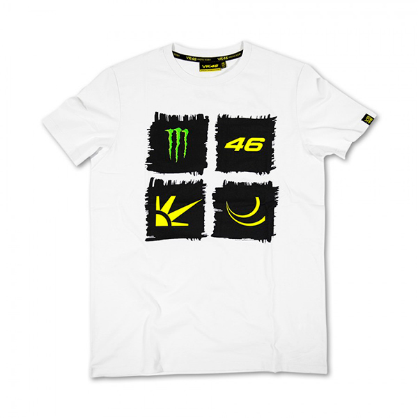 Camiseta Valentino Rossi Monster Blanca