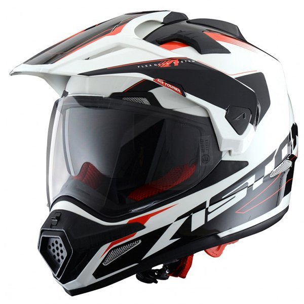 Casco Astone Cross Tourer Adventure Blanco Negro