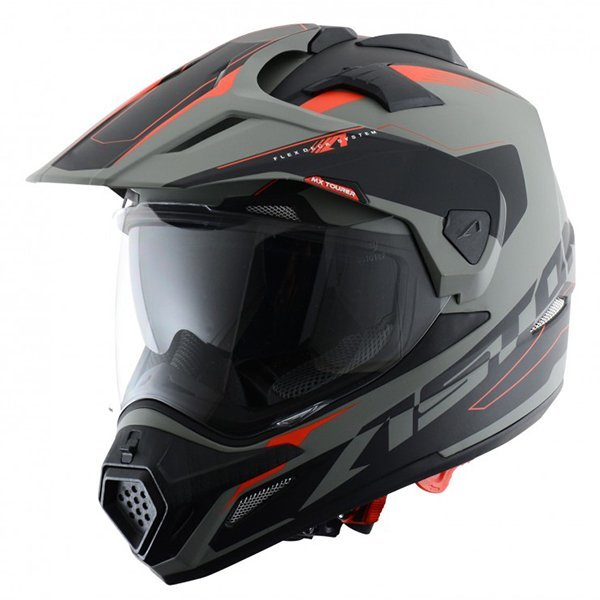 Casco Astone Cross Tourer Aventure Gris Negro