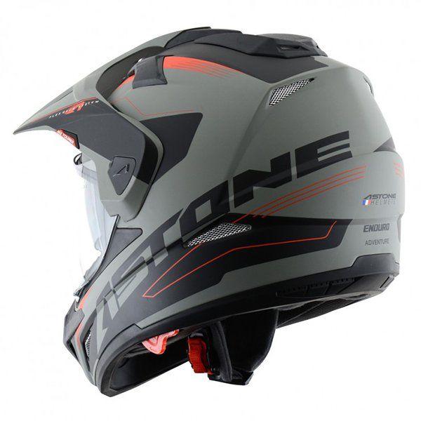 Casco Astone Cross Tourer Aventure Gris Negro2