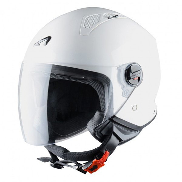 Casco Astone MiniJet Blanco Brillo