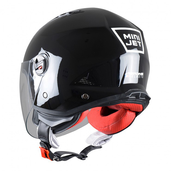 Casco Astone MiniJet Negro Brillo1
