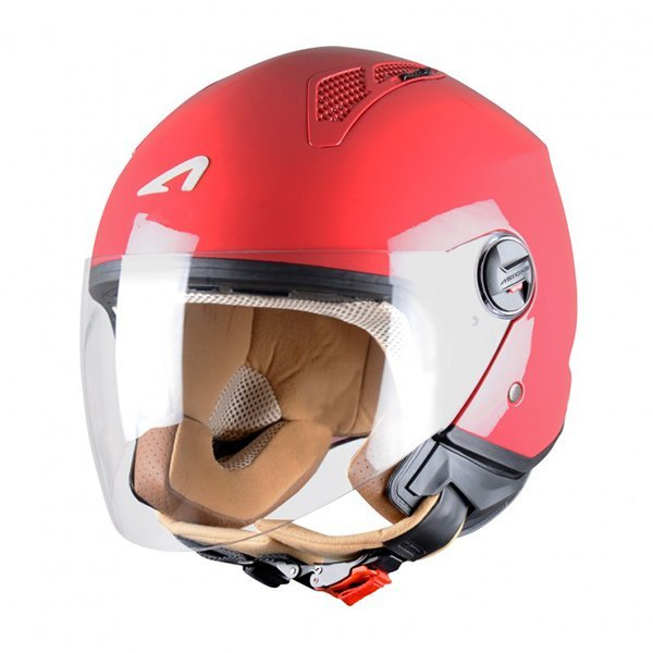 Casco Astone MiniJet Rojo Cherry