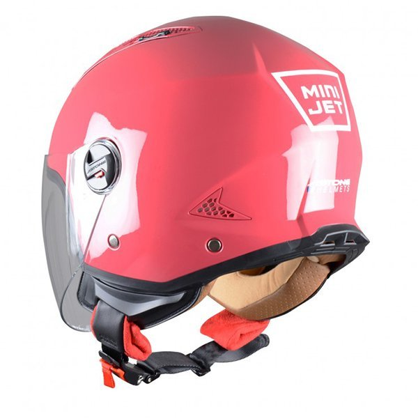 Casco Astone MiniJet Rojo Cherry1