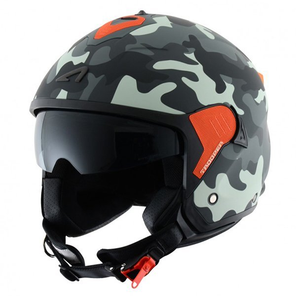 Casco Astone MiniJet S Trooper matt