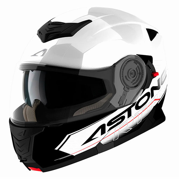 Casco Astone RT1200 Touring Blanco Negro