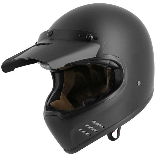Casco Astone Super Retro negro mate