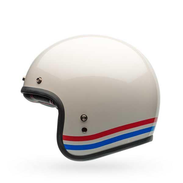Casco Bell Custom 500 Stripes Blanco