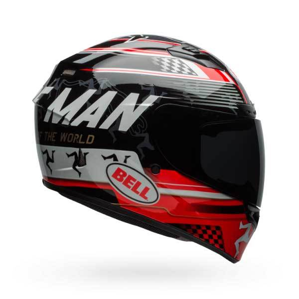 Casco Bell Qualifier DLX Isle Of Man Negro Rojo