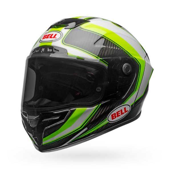 Casco Bell Race Star Sector Blanco Verde