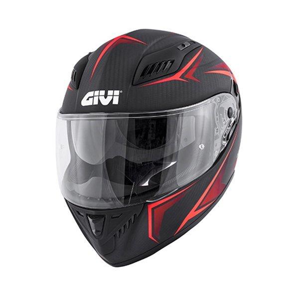 Casco GIVI 40.5X Carbon Negro Rojo