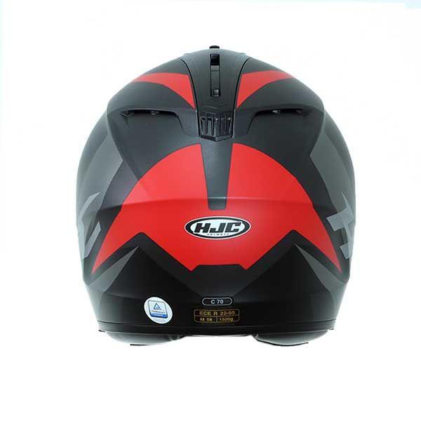 Casco HJC C70 Troky MC1SF Negro Gris Rojo