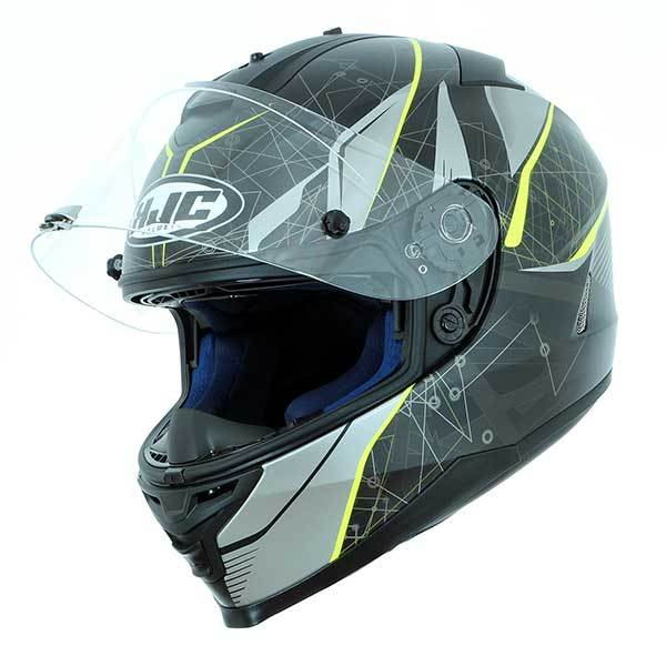 Casco HJC IS-17 Daugava Negro amarillo Mate