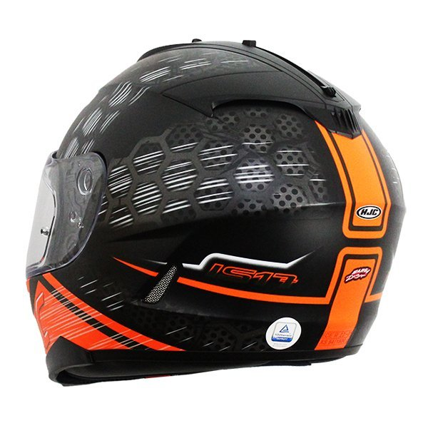 Casco HJC IS-17 Enver Naranja2