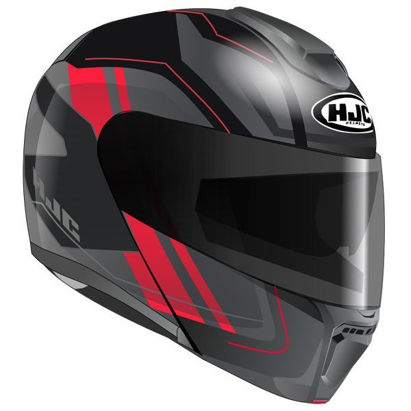 Casco HJC RPHA 90 Tanisk negro rojo