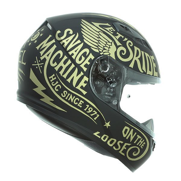 Casco Hjc Cs15 Rebel Negro dorado