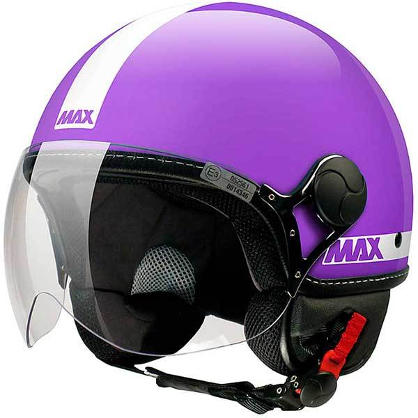 Casco Jet Max Power Violeta