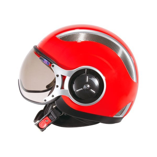 Casco Jet Zeus Z218 Ventilado Rojo
