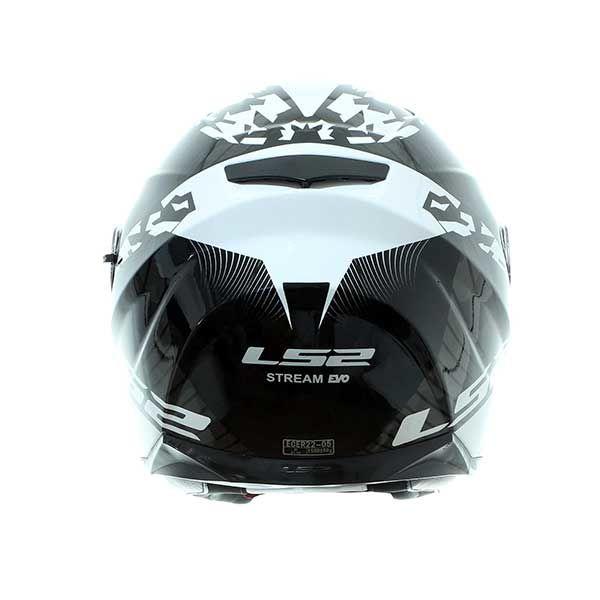 Casco LS2 FF320 Stream EVO Hype negro blanco