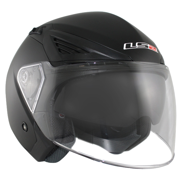 Casco Ls2 OF586 Bishop Negro Brillo1