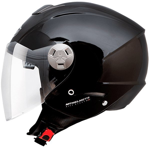 Casco MT City Eleven SV Negro brillo