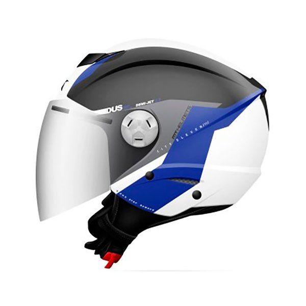 Casco MT City Eleven SV Spark C2 blanco azul