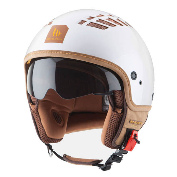 Casco MT Cosmo Blanco Perla Brillo