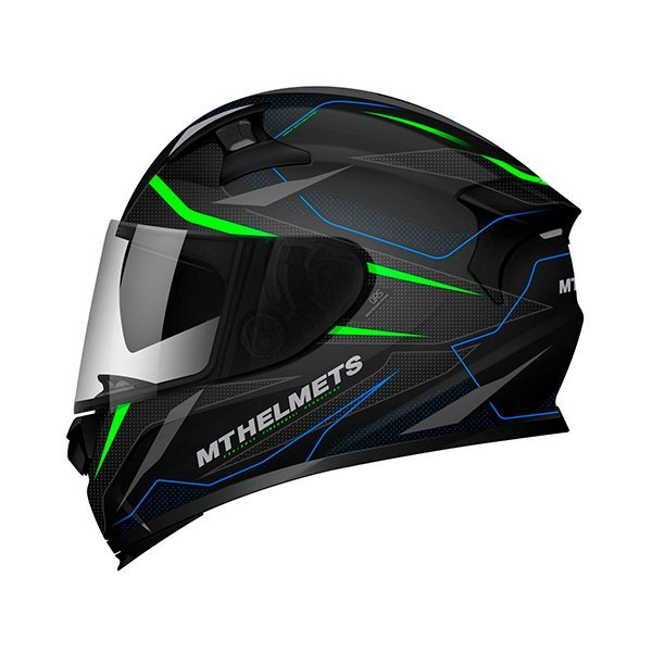 Casco MT KRE SV Intrepid C1 verde negro