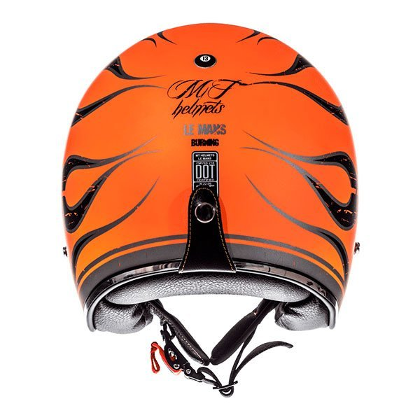 Casco MT Le Mans 2 SV Flaming A0 Naranja