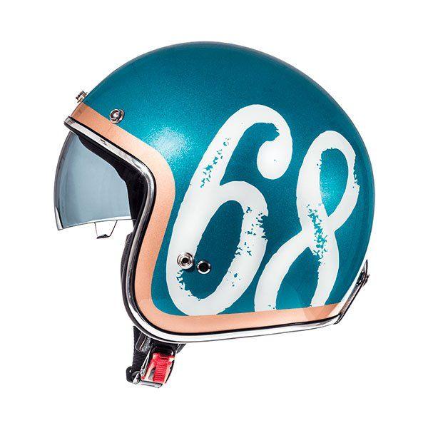 Casco MT Le Mans 2 SV Hipster A0 Verde